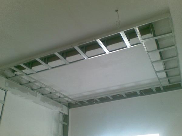 Короба на потолке из гипсокартона своими руками фото
