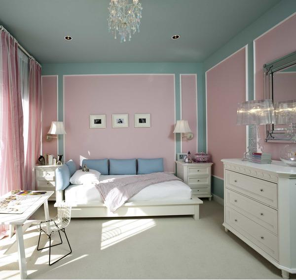 Выбор цвета для потолка