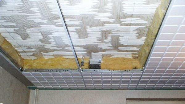 Навесной потолок на утеплитель