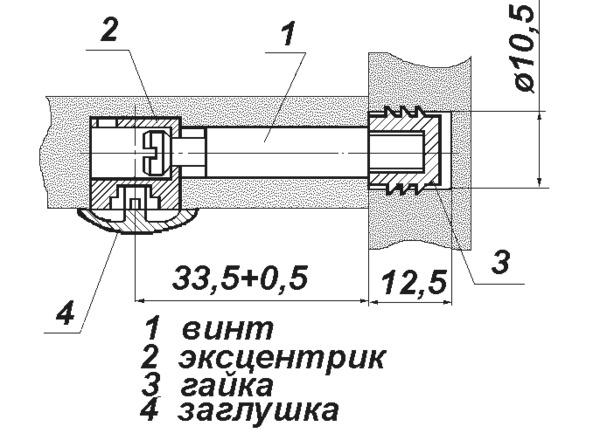 Схема смесителя с эксцентриками
